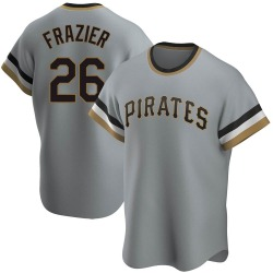 Adam Frazier Pittsburgh Pirates Men's Replica Road Cooperstown Collection Jersey - Gray
