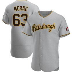 Alex McRae Pittsburgh Pirates Men's Authentic Road Jersey - Gray