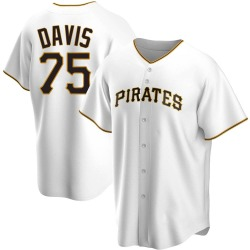 Austin Davis Pittsburgh Pirates Men's Replica Home Jersey - White