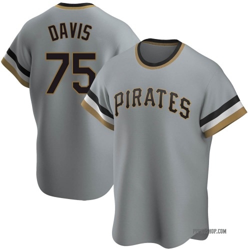 Austin Davis Pittsburgh Pirates Men's Replica Road Cooperstown Collection Jersey - Gray