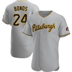 Barry Bonds Pittsburgh Pirates Men's Authentic Road Jersey - Gray