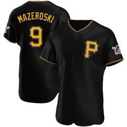 Bill Mazeroski Pittsburgh Pirates Men's Authentic Alternate Jersey - Black