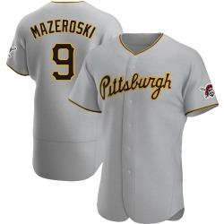 Bill Mazeroski Pittsburgh Pirates Men's Authentic Road Jersey - Gray