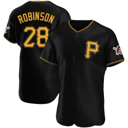 Bill Robinson Pittsburgh Pirates Men's Authentic Alternate Jersey - Black