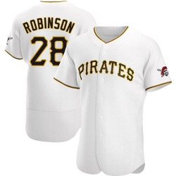 Bill Robinson Pittsburgh Pirates Men's Authentic Home Jersey - White