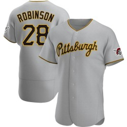 Bill Robinson Pittsburgh Pirates Men's Authentic Road Jersey - Gray