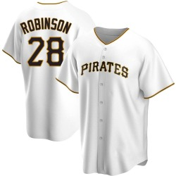 Bill Robinson Pittsburgh Pirates Men's Replica Home Jersey - White