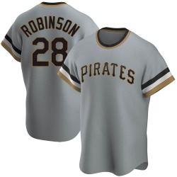 Bill Robinson Pittsburgh Pirates Men's Replica Road Cooperstown Collection Jersey - Gray