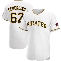 Blake Cederlind Pittsburgh Pirates Men's Authentic Home Jersey - White