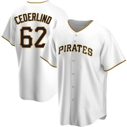 Blake Cederlind Pittsburgh Pirates Men's Replica Home Jersey - White