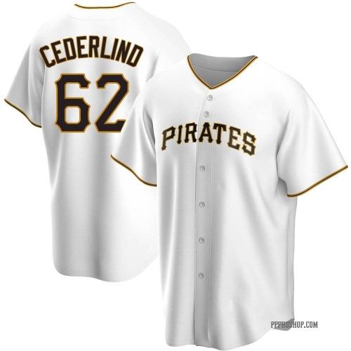 Blake Cederlind Pittsburgh Pirates Men's Replica Home Jersey - White