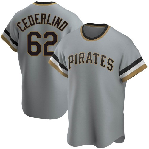 Blake Cederlind Pittsburgh Pirates Youth Replica Road Cooperstown Collection Jersey - Gray
