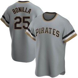 Bobby Bonilla Pittsburgh Pirates Men's Replica Road Cooperstown Collection Jersey - Gray