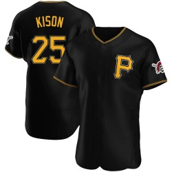 Bruce Kison Pittsburgh Pirates Men's Authentic Alternate Jersey - Black