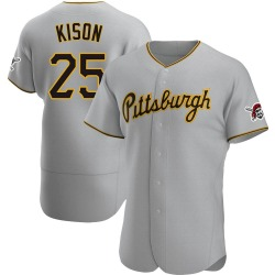 Bruce Kison Pittsburgh Pirates Men's Authentic Road Jersey - Gray