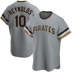 Bryan Reynolds Pittsburgh Pirates Men's Replica Road Cooperstown Collection Jersey - Gray
