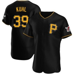 Chad Kuhl Pittsburgh Pirates Men's Authentic Alternate Jersey - Black
