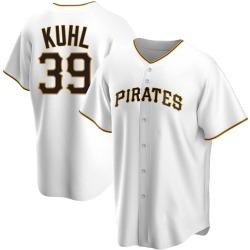Chad Kuhl Pittsburgh Pirates Men's Replica Home Jersey - White