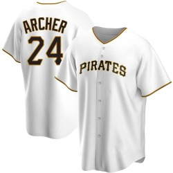 Chris Archer Pittsburgh Pirates Youth Replica Home Jersey - White