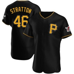 Chris Stratton Pittsburgh Pirates Men's Authentic Alternate Jersey - Black