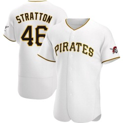 Chris Stratton Pittsburgh Pirates Men's Authentic Home Jersey - White