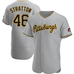 Chris Stratton Pittsburgh Pirates Men's Authentic Road Jersey - Gray
