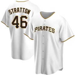 Chris Stratton Pittsburgh Pirates Men's Replica Home Jersey - White