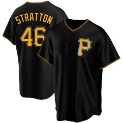 Chris Stratton Pittsburgh Pirates Youth Replica Alternate Jersey - Black