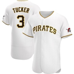 Cole Tucker Pittsburgh Pirates Men's Authentic Home Jersey - White