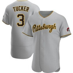 Cole Tucker Pittsburgh Pirates Men's Authentic Road Jersey - Gray