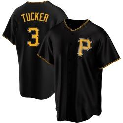 Cole Tucker Pittsburgh Pirates Men's Replica Alternate Jersey - Black