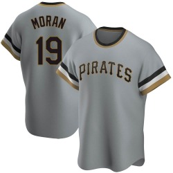 Colin Moran Pittsburgh Pirates Men's Replica Road Cooperstown Collection Jersey - Gray