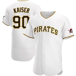 Connor Kaiser Pittsburgh Pirates Men's Authentic Home Jersey - White