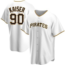Connor Kaiser Pittsburgh Pirates Men's Replica Home Jersey - White