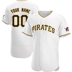Custom Pittsburgh Pirates Men's Authentic Home Jersey - White