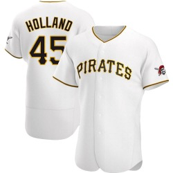 Derek Holland Pittsburgh Pirates Men's Authentic Home Jersey - White