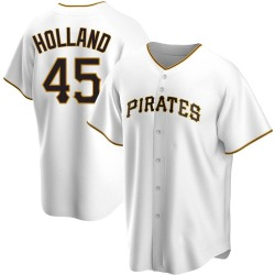 Derek Holland Pittsburgh Pirates Men's Replica Home Jersey - White