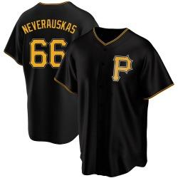 Dovydas Neverauskas Pittsburgh Pirates Men's Replica Alternate Jersey - Black