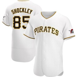 Dylan Shockley Pittsburgh Pirates Men's Authentic Home Jersey - White