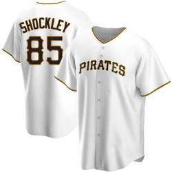 Dylan Shockley Pittsburgh Pirates Men's Replica Home Jersey - White