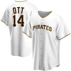 Ed Ott Pittsburgh Pirates Men's Replica Home Jersey - White
