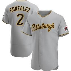 Erik Gonzalez Pittsburgh Pirates Men's Authentic Road Jersey - Gray