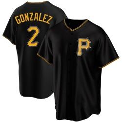 Erik Gonzalez Pittsburgh Pirates Men's Replica Alternate Jersey - Black
