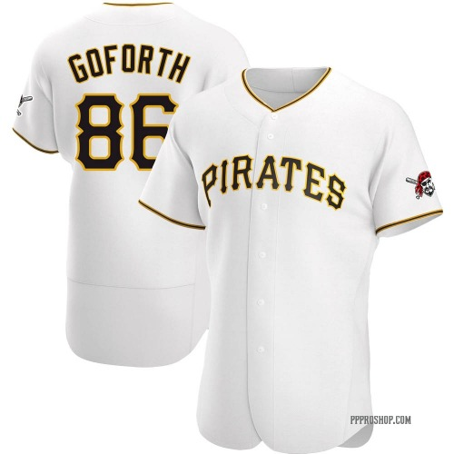 Ethan Goforth Pittsburgh Pirates Men's Authentic Home Jersey - White