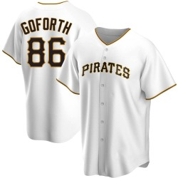Ethan Goforth Pittsburgh Pirates Men's Replica Home Jersey - White