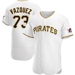 Felipe Vazquez Pittsburgh Pirates Men's Authentic Home Jersey - White