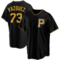 Felipe Vazquez Pittsburgh Pirates Men's Replica Alternate Jersey - Black