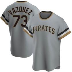 Felipe Vazquez Pittsburgh Pirates Men's Replica Road Cooperstown Collection Jersey - Gray