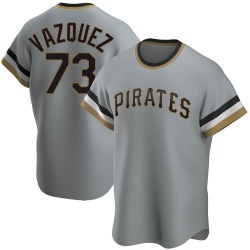 Felipe Vazquez Pittsburgh Pirates Youth Replica Road Cooperstown Collection Jersey - Gray