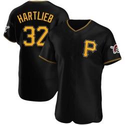 Geoff Hartlieb Pittsburgh Pirates Men's Authentic Alternate Jersey - Black
